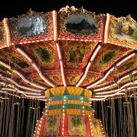 Carnival Swings by Brandon Hunsinger - City,  Street & Park  Amusement Parks ( carnival, swings, swing )