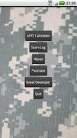 Screenshot of APFT Calculator w/ Score Log