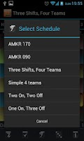 Screenshot of Shift Schedule
