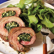 Bruce Aidells' Spinach and Gorgonzola-Stuffed Flank Steak
