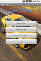 Screenshot of Cars Trivia Amazing