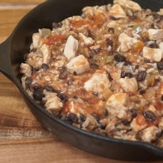 ... black bean green smoky skillet chicken rice chicken and black bean