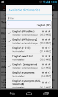 Screenshot of Offline dictionaries pro