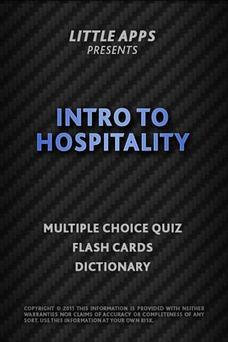 HOSPITALITY Career Terms -Quiz