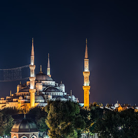Sultanahmet Camii by Kostas Panagias - Landscapes Travel ( camii, blue mosque, events, fx, mosque, d610, night, sultanahmet camii, istanbul, vacations,  )