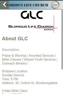 Glorious Life Church - screenshot