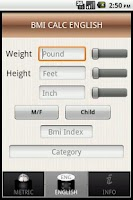 Screenshot of Body Mass Index Calc - BMI
