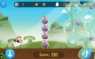 Screenshot of Ninja Chicken Adventure Island