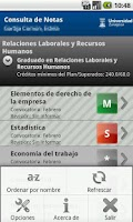 Screenshot of Consulta de Notas