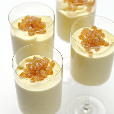 Meyer Lemon Mousse with Candied Lemon Peels