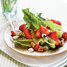 Romaine with Toasted Pecans and Pickled Strawberries