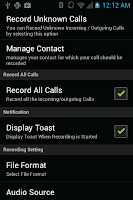 Screenshot of Call Recorder Free
