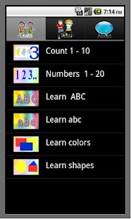 Learn English ABC number color - screenshot
