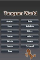 Screenshot of Tangram World