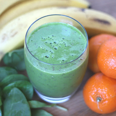 Pineapple Orange Chia Spinach Smoothie
