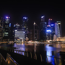 CBD from MBS by Michael Loi - Novices Only Landscapes ( cbd, mbs, night, sg, esplanade, singapore )