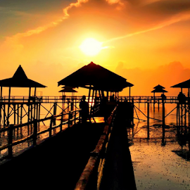 bridge by Sam Hidayat - Instagram & Mobile Android ( sea, beach, bridge )