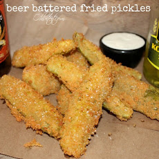 ~Beer Battered Fried Pickles!