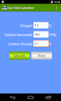 Screenshot of Gas Ratio Calculator
