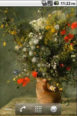 雷诺瓦即时壁纸由他的著名的30画。