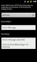 Screenshot of Voice Messenger