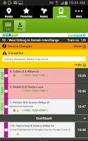 Screenshot of tramTRACKER