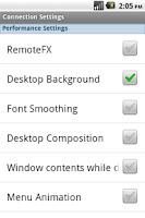 Screenshot of Remote Desktop Connection