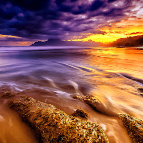 Orange Noon by Eddy Due Woi - Landscapes Beaches