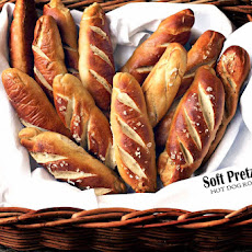 Soft Pretzel Hot Dog Rolls