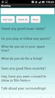 Screenshot of What2Say Conversation Starter