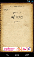 Screenshot of Elfic - Elvish Translator