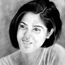 An ad girl by Angvish Shaw - Drawing All Drawing