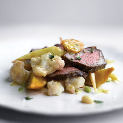 Summer Vegetables With Flatiron Steak