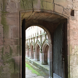 Through the Church Door To The Cloisters by Jane Jenkins - Buildings & Architecture Architectural Detail ( scotland, church, architectural detail, religious, abbey,  )