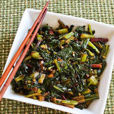 Spicy Asian Stir-Fried Swiss Chard