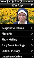 Screenshot of SJW Religious Vocations App