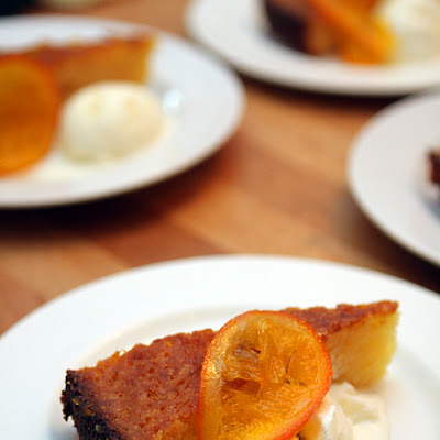 Orange Syrup Cake with Candied Oranges