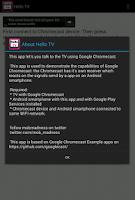 Screenshot of HelloTV (Chromecast app)