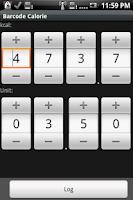 Screenshot of Barcode Calorie