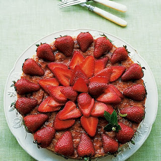 Almond Macaroon Galette with Strawberries