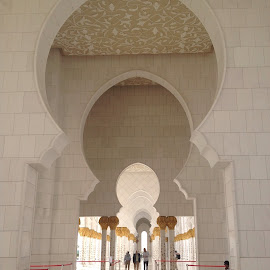 Grand Mosque hallway by Mary Dayton - Buildings & Architecture Places of Worship