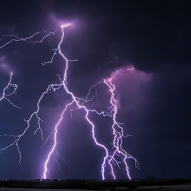Electrifying by Robert Sinner-Storm Chaser - Landscapes Weather ( lightning, supercell, storm, kansas, photography )