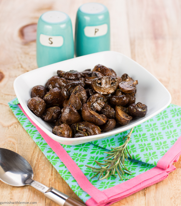 Rosemary Balsamic Roasted Mushrooms Recipe | Yummly