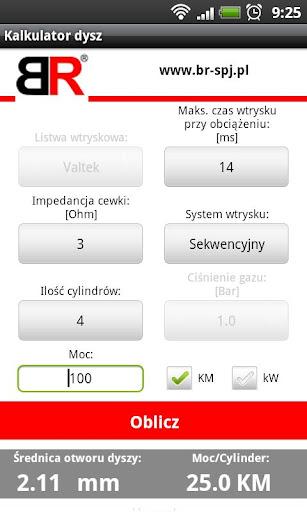 Kalkulator Dysz LPG
