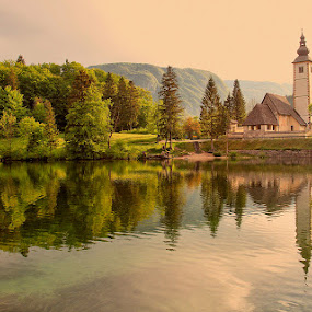 morning at Bohinj Lake by Ld Turizem - Landscapes Waterscapes