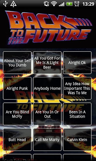 Back to the Future Soundboard