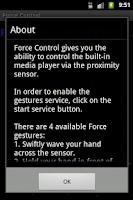 Screenshot of Force Control