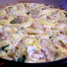 Artichoke, Pancetta and Spinach Frittata