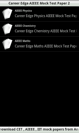 AIEEE Mock Test 2