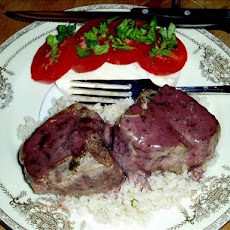 Lamb Chops With Rosemary and Port Wine Sauce
